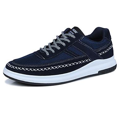 Miesten kengät PU Kevät Syksy Comfort Lenkkitossut varten ulko- Musta Harmaa Sininen