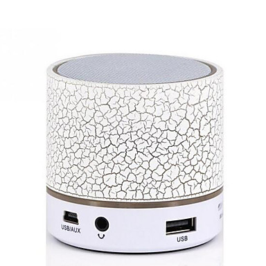 Mini Colorful Bluetooth Speakers LED Lights Column Crack Pattern Portable Wireless Loudspeakers Smart Stereo Bluetooth Receiver