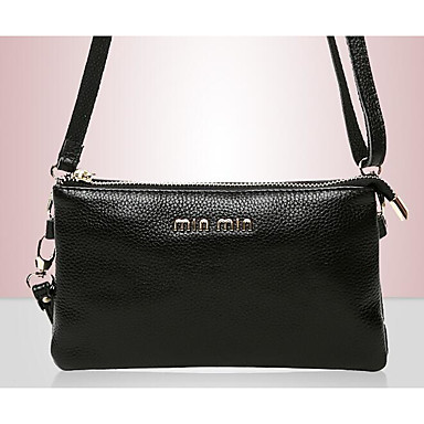 Women Shoulder Bag Cowhide All Seasons Casual Outdoor Square Zipper Gold Black Red