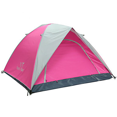 Trackman® 3-4 persons Beach Tent Tent Double Camping Tent One Room Fold Tent Rain-Proof Dust Proof Foldable for Camping / Hiking Outdoor