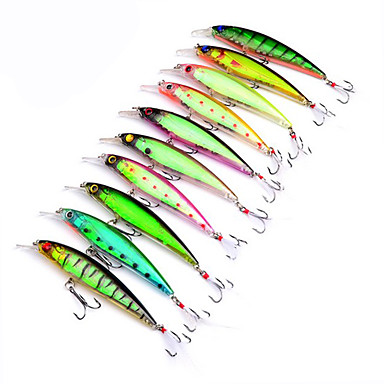 10 pcs Hard Bait Plastics Sea Fishing Other