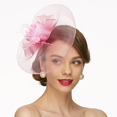 Síť Fascinátory / Klobouky / Doplňky do vlasů s Květiny 1ks Svatební / Zvláštní příležitosti Přílba