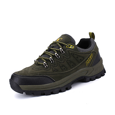 Men's Shoes Leather Spring Fall Comfort Athletic Shoes Hiking Shoes Split Joint for Athletic Casual Outdoor Gray Brown Army Green