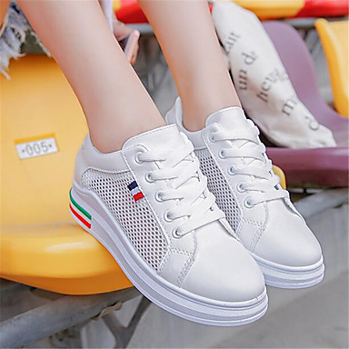 Women's Sneakers Comfort Spring PU Casual White Flat