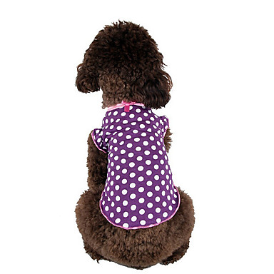 Dog Shirt / T-Shirt Dog Clothes Casual/Daily Polka Dots Purple Costume For Pets