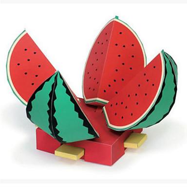 3D Puzzles Paper Model Paper Craft Model Building Kit Watermelon Fruit DIY Hard Card Paper Classic Kid's Unisex Gift