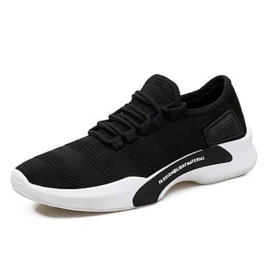 Herrn Schuhe Künstliche Mikrofaser Polyurethan Sommer Herbst Komfort Sneakers Schnürsenkel für Normal Schwarz Grau