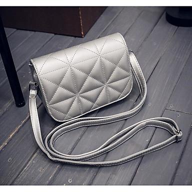 Women Bags All Seasons PU Shoulder Bag for Casual Outdoor White Black Gray Fuchsia