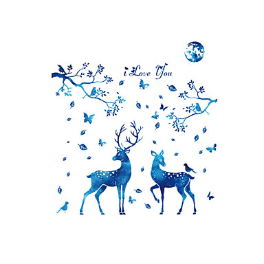 Decorative Wall Stickers - Plane Wall Stickers Landscape Animals Fashion Living Room Bedroom Bathroom