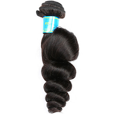 Brasilianisches Haar Lose gewellt Menschliches Haar Webarten 1 Stück 0.1
