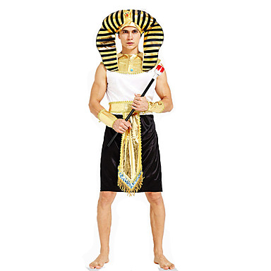 Roman Costumes Egyptian Costumes Cosplay Pharaoh Cosplay Costumes Party Costume Male Festival/Holiday Halloween Costumes Halloween
