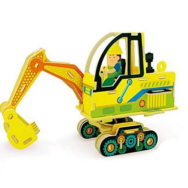 voordelige 3D-puzzels-Robotime Speelgoedauto's 3D-puzzels Legpuzzel Vrachtwagen DHZ Puinen Klassiek Constructievoertuig Kinderen Volwassenen Unisex Speeltjes Geschenk