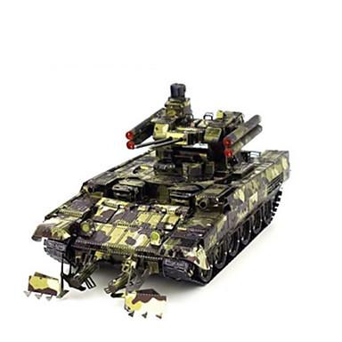 Lekebiler 3D-puslespill Puslespill Metallpuslespill Tank GDS Chrome Metall Klassisk Entreprenørmaskiner Barne Gutt Unisex Gave
