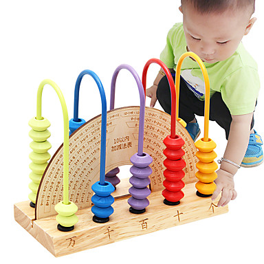 Blocos de Construir Ábaco Brinquedos Matemáticos Brinquedo Educativo Brinquedos Amiga-do-Ambiente De madeira Crianças Peças
