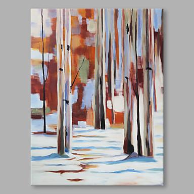 Hang-Painted öljymaalaus Maalattu - Abstrakti Abstrakti Moderni / nykyaikainen Kangas