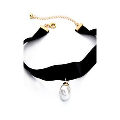 Women's Choker Necklaces Imitation Pearl Alloy Personalized Fashion Hip-Hop Rock Jewelry For Daily Casual Stage Holiday Going out