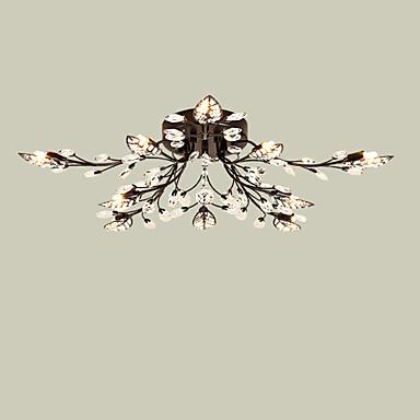 LightMyself™ 10-luz Montagem do Fluxo Luz Ambiente - Cristal, 200-240V / 110-120V Lâmpada Incluída / G9 / 20-30㎡