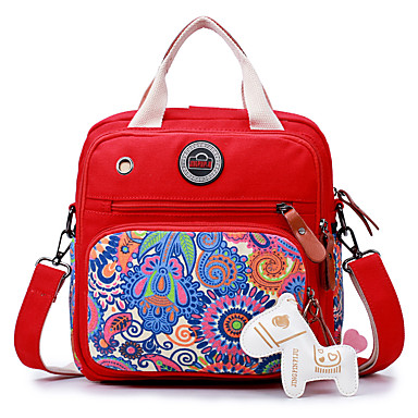 Women's Bags Canvas Shoulder Bag for Casual Black / Red