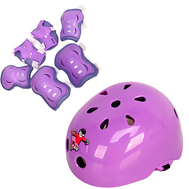 Kids Protective Gear Knee Pads + Elbow Pads + Wrist Pads Skate Helmet for Cycling Ice Skating Skateboarding Inline Skates Hoverboard