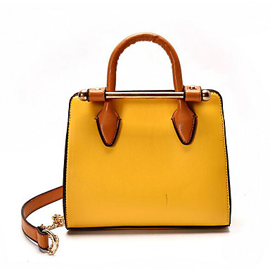 Women Bags All Seasons PU Shoulder Bag for Casual Outdoor White Black Yellow