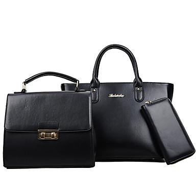 Női Táskák PU táska szettek 3 db erszényes készlet mert Hétköznapi Rubin / Arcpír rózsaszín / Szürke