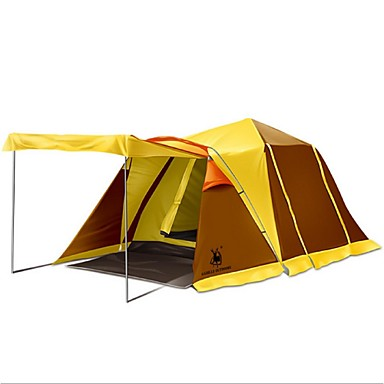 HUILINGYANG 3 - 4 person Tent Double Camping Tent Outdoor Fold Tent Rain-Proof / Tent for Camping PU / Oxford / Terylene