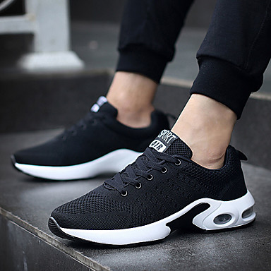 Men's Shoes Knit Tulle Spring Fall Light Soles Vulcanized Shoes Sneakers for Casual Outdoor Black Dark Blue Gray