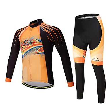 Cycling Jersey with Tights Unisex Long Sleeves Bike Clothing Suits Thermal / Warm Thick Polyester Fleece Silicon LYCRA® Winter