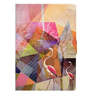 Capinha Para Apple iPad Mini 3/2/1 iPad 4/3/2 iPad Air 2 iPad Air Porta-Cartão Com Suporte Estampada Capa Proteção Completa Flamingo