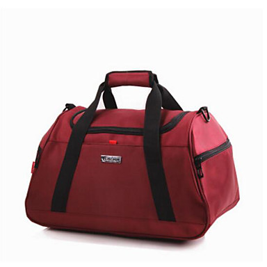 Unisex Travel Bag Oxford Cloth Polyester All Seasons Casual Outdoor Round Zipper Blue Black Deep Blue Ruby Wine