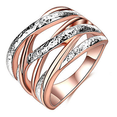 Women's Adorable Luxury Ring Settings / Ring / Band Ring - Geometric Personalized / Luxury / Unique Design Rose Gold Ring For Christmas