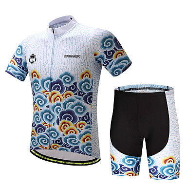 Men's Cycling Jersey with Shorts Bike Clothing Suit, Quick Dry