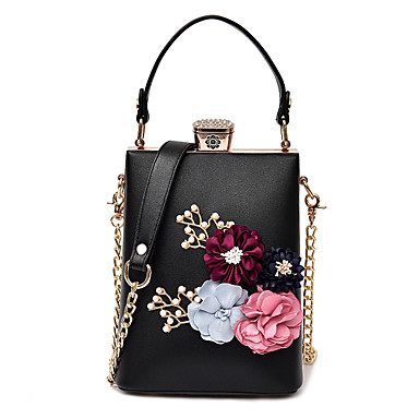 Women's Bags PU Crossbody Bag for Casual All Seasons White Black Red Blushing Pink Brown