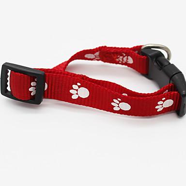 Cat Dog Collar Wireless Geometry Nylon Red