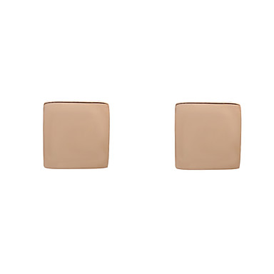 Women's Geometric Stud Earrings - Friends Geometric, Unique Design, Classic Gold For Party / Stage / Practise / Rose Gold Plated