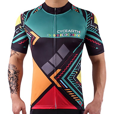 Homens / Mulheres Manga Curta Camisa para Ciclismo Moto Camisa / Roupas Para Esporte / Blusas Elastano, 100% Poliéster, Lycra
