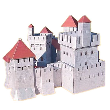 3D Puzzles Paper Model Model Building Kits Paper Craft Castle Famous buildings House Architecture 3D DIY Classic 6 Years Old and Above