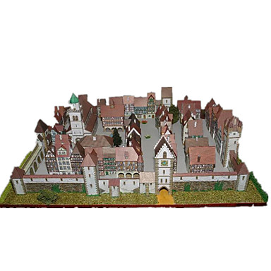 3D-puslespill Papirmodell Papirkunst Modellsett Kjent bygning Hus Arkitektur GDS Klassisk Unisex Gave