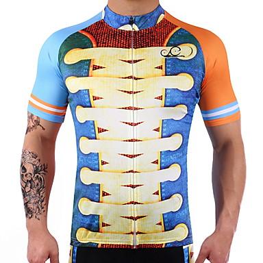 Manga Curta Camisa para Ciclismo Moto Secagem Rápida Elastano, 100% Poliéster, Lycra