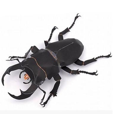 voordelige 3D-puzzels-3D-puzzels Bouwplaat Modelbouwsets Insect Beetle DHZ Simulatie Hard Kaart Paper Klassiek Kinderen Unisex Jongens Speeltjes Geschenk