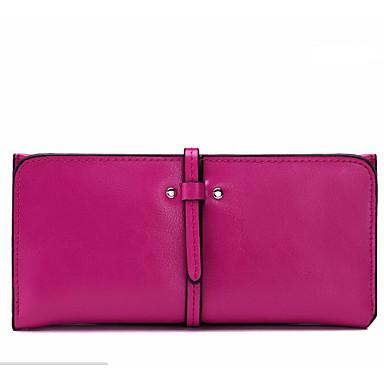 Women Checkbook Wallet Cowhide All Seasons Casual Rectangle Zipper Gold Fuchsia Ruby