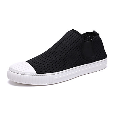 Men's Shoes Breathable Mesh Spring Fall Comfort Sneakers for Casual White Black