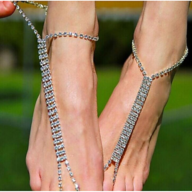 Leg Chain - Women's Silver Vintage Geometric Body Jewelry For Casual