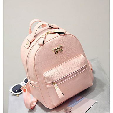 Women Bags All Seasons PU Backpack for Casual Blue Black Blushing Pink