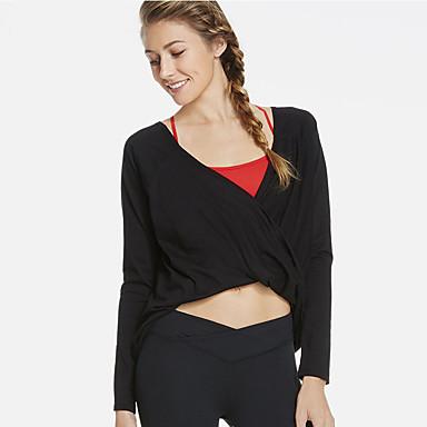 Mulheres Camiseta de Corrida Secagem Rápida Respirabilidade Confortável Casual Camiseta Blusas para Exercício e Atividade Física Corrida