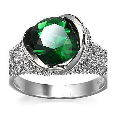 Dame Steninnfatninger Ring Band Ring Kubisk Zirkonium Rhinstein Personalisert Luksus Rundt design Unikt design Klassisk Rhinestone