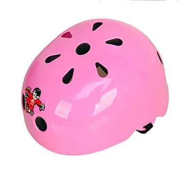 Skate Helmet Kid's Helmet CE Certification Scratch Resistant Anti-Shock Breathable Sports for Ice Skating Skating Skateboarding Blushing
