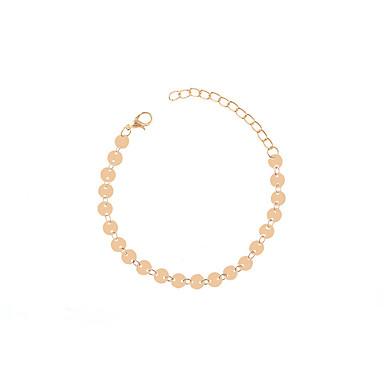 abordables Bracelet-Chaînes Bracelets Femme Mode Bracelet Bijoux Dorée Argent Forme de Cercle pour Soirée Occasion spéciale