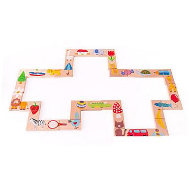 Ferramentas de Ensino Montessori Blocos de Construir Quebra-Cabeça Brinquedo Educativo Animais Educação Dominó Quadrada Crianças Dom