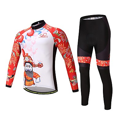 Cycling Jersey with Tights Unisex Long Sleeves Bike Clothing Suits Ventilation Quick Dry Polyester Spandex Silicon LYCRA® Autumn Spring